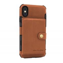 Iphone XR-Coque cartes-Marron
