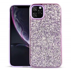 Iphone-11-Coque-strass violet