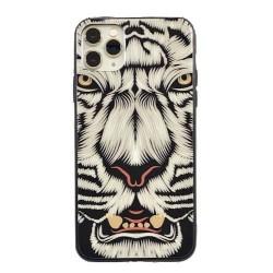 Iphone 11Pro-Coque tigre blanc