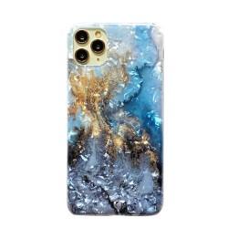 Iphone 11Pro-Coque Marbre bleu