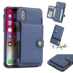 Coque Iphone X/XS-Cartes Bleu