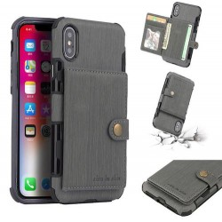 Coque Iphone X/XS-Cartes-Gris