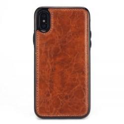 Coque Iphone X/XS-Cuir brun
