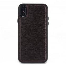 Coque Iphone XSMax-Cuir brun
