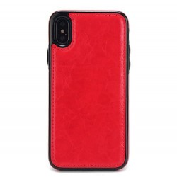 Coque Iphone XSMax-Cuir rouge