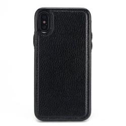 Coque Iphone XSMax-Cuir noir